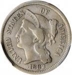 1882 Nickel Three-Cent Piece. VF-30 (PCGS).