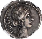 BRUTUS. AR Denarius (4.05 gms), Rome Mint, 54 B.C. NGC Ch EF, Strike: 5/5 Surface: 4/5. Edge Cut.