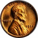 1924 Lincoln Cent. MS-67 RD (PCGS).