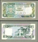 Bank of Sierra Leone, a printers archival obverse and reverse composite essay on card for a 1 leone,