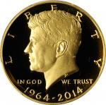 2014-W 50th Anniversary Kennedy Half Dollar. Gold. Proof-69 Deep Cameo (PCGS).