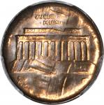Undated Lincoln Cent. Memorial Reverse. Bronze--Double Brockage Obverse--MS-63 RB (PCGS).