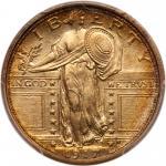 1917-S Liberty Standing Quarter Dollar. Type 1. PCGS MS66
