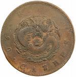 吉林省造光绪元宝满文二十箇黄铜 极美 KIRIN: Kuang Hsu, 1875-1908, AE 20 cash