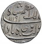 MUGHAL: Azam Shah, 1707, AR rupee 4011。4g41, Burhanpur, AH1119 year one 40ahad41, KM-332。3, bold str