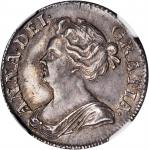 GREAT BRITAIN. Shilling, 1711. Anne (1702-1714). NGC AU-58.