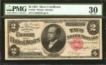 Fr. 246. 1891 $2 Silver Certificate. PMG Very Fine 30.