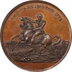 Circa 1859 Siege of Boston medalet. Musante GW-254, Baker-50A. Copper. Reeded edge. MS-65 BN (PCGS).