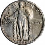 1924-S Standing Liberty Quarter. AU Details--Cleaned (PCGS).