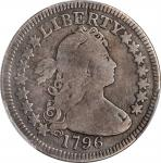 1796 Draped Bust Quarter. B-2. Rarity-3. VG Details--Repaired (PCGS).