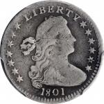 1801 Draped Bust Half Dime. LM-2. Rarity-4. VG Details--Repaired (PCGS).