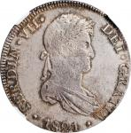 PERU. 8 Reales, 1821-LIMA JP. Lima Mint. Ferdinand VII. NGC Unc Details--Cleaned.