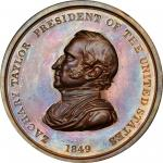 1849 Zachary Taylor Indian Peace Medal. Bronze. First Size. Second Reverse. Julian IP-27. Prucha-47.