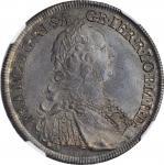 AUSTRIA. 1/2 Taler, 1747-WI. Vienna Mint. Franz I. NGC MS-63.