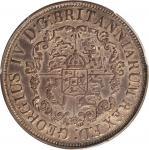 英属西印度群岛1822年1/16, 1/8, 1/4, & 和1/2 元 BRITISH WEST INDIES. 1/16, 1/8, 1/4, & 1/2 Dollar (4 Pieces), 1