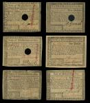 Massachusetts, May 5, 1780 Colonial Currency Grouping. MA-278, $1, EF, mounted around the edges, hol