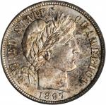 1897-S Barber Dime. MS-64 (PCGS). CAC.