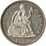 1889-S Liberty Seated Dime. Small S. MS-62 (PCGS). CAC.