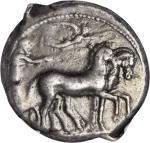SICILY. Syracuse. Second Democracy, 466-406 B.C. AR Tetradrachm (17.29 gms), ca. 430-420 B.C. NGC VF