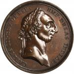 Undated (ca. 1764-1783) Carlos III Al Merito Medal. Bronzed Copper. 38.7 mm. 2.7 mm thick. Betts-536