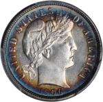 1906-S Barber Dime. Unc Details--Cleaning (PCGS).