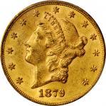 1879 Liberty Head Double Eagle. FS-801. Doubled Die Reverse. AU-58 (PCGS). CAC.