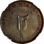 NEW ZEALAND. Wellington. J.W. Mears. 1/2 Penny Token, ND (1857). NGC MS-63 BN.