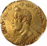 ITALY. Parma & Piacenza. 2 Doppie, 1619-PP. Ranuccio I Farnese. NGC AU-53.