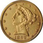 1892-CC Liberty Head Half Eagle. AU Details--Cleaned (PCGS).