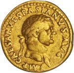 VESPASIAN, A.D. 69-79. AV Aureus (7.19 gms), Lugdunum Mint, ca. A.D. 71.