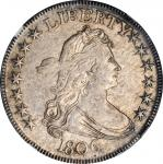 1806 Draped Bust Half Dollar. O-119, T-27. Rarity-3. Pointed 6, Stem Through Claw. Unc Details--Clea