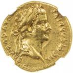 ROMAN EMPIRE: Tiberius, 14-37 AD, AV aureus 407。69g41, Lugdunum, RIC-29, BMCRE-46, laureate bust of