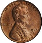 1924-S Lincoln Cent. MS-64 RD (PCGS).