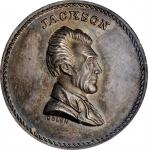 Undated (ca. 1867) Andrew Jackson / The Stern Old Soldier medal. By J.A. Bolen. Silver. Thick Planch