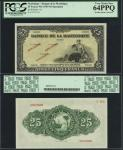 Martinique, Banque de la Martinique, 25 francs, specimen, no date (1943), serial number 0000, black