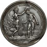 1781 Daniel Morgan at Cowpens Obverse and Reverse Splashers. Uniface. White Metal Backed With Paper.