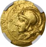 SICILY. Syracuse. Dionysios I, 406-367 B.C. AV 10 Litrae/Didrachm (0.65 gms), ca. 405 B.C.