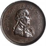 1796 Repub Ameri Medal. First Obverse. Bronze. 33 mm. Musante GW-61, Baker-68. Plain Edge. AU-58 (PC