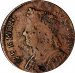 1786 Vermont Copper. RR-10, Bressett 8-G, W-2045. Rarity-4. Bust Left. VF-30.