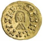 VISIGOTHS IN SPAIN: Sisebut, 612-621, AV tremissis (1.51g), Ispali (Sevilla), Miles-187, bold strike