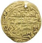 AMIR OF WAKHSH: Abu Bakr Qaratuz, ca. 1200-1212, AV dinar (4.55g), Wakhsh, DM, A-A1754, independent