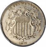 1877 Shield Nickel. Proof-63 (PCGS).