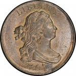 1807 Draped Bust Half Cent. Cohen-1, Breen-1. Rarity-1. Mint State-64 BN (PCGS).