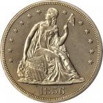 1856 Liberty Seated Silver Dollar. OC-P1. Rarity-5+. Proof-64 (PCGS). CAC.