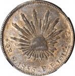 MEXICO. 4 Reales, 1856-Go PF. Guanajuato Mint. NGC AU-58.
