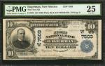 Hagerman, New Mexico. $10 1902 Plain Back. Fr. 628. The Hagerman NB. Charter #7503. PMG Very Fine 25