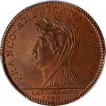1796 (1845-1860) Castorland Medal, or Jeton. Paris Mint Restrike. W-9155. Copper. Reeded Edge. MS-64