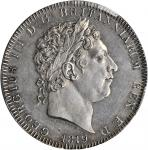 GREAT BRITAIN. Crown, 1819. PCGS Genuine--Cleaning, AU Details Secure Holder.
