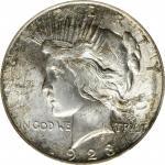 1923-D Peace Silver Dollar. MS-64 (PCGS).