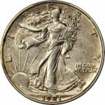 1921-S Walking Liberty Half Dollar. AU-53 (PCGS).